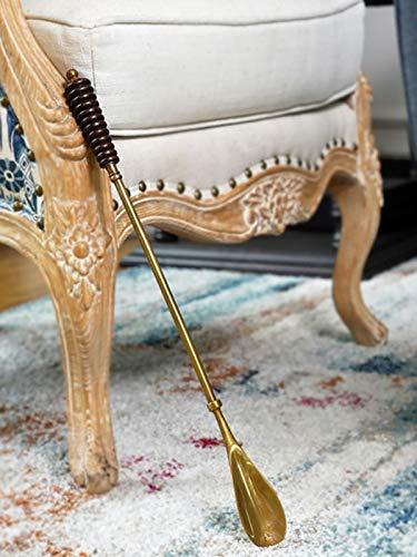 Yizc Metal de Cuerno de Zapato Mango Largo Caballero Clásico's Accesorio,Calzador con Agarre Cómodo,Acero Inoxidable Cuernos de Zapato para Los Hombres-B 46x4cm