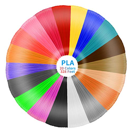 3D Pen Filament Refills PLA,20 Colors,16.4 Feet Each Total 328 Feet,CCopnts 1.75mm 3D Printing Pen...