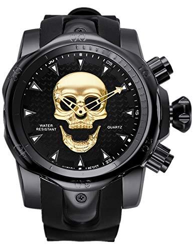Calavera Reloj Reloj De Pulsera De Cuarzo para Hombre Color