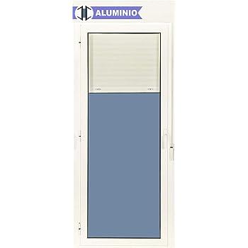 Balconera Aluminio Corredera Con Persiana PVC 1500 ancho × 2185 alto 2 hojas (marco y cajón persiana en kit): Amazon ...