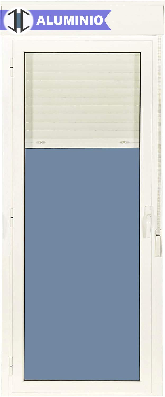 Puerta Balconera Aluminio Practicable Izquierda Con Persiana PVC 880 ancho x 2185 alto 1 hoja (guías y cajón persiana en kit): Amazon.es: Bricolaje y herramientas