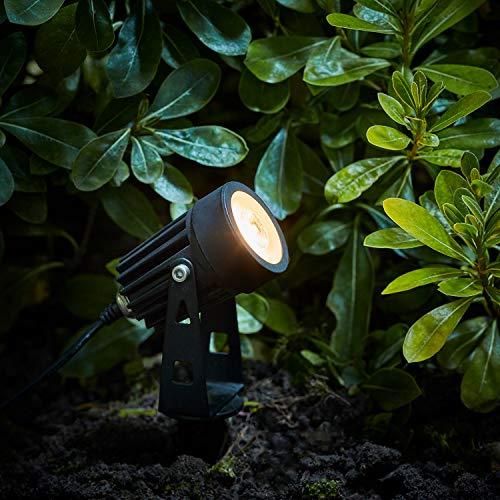 Lights4fun 4er Set Solar Strahler mit Fernbedienung dimmbar und Timer Funktion