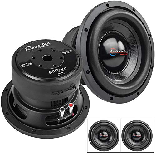"2 Pack American Bass 8"" High Power Subwoofer Dual 4 Ohm 600W Max Sub Bass XD-8"
