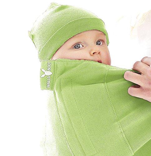 Wallaboo Tragetuch Connection, 100% Baumwolle, Passt sich der Form Ihres Baby genau an, Ergonomische Babytragetuch, Frabe: Grün - 9