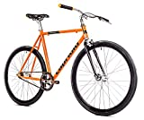 breluxx® Singlespeed 700C/1, 28 Zoll Fixie Singlespeed Fastboy CityBike, orange, 11,7kg, Made in...