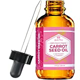 Carrot Seed Oil by Leven Rose Pure Unrefined Cold Pressed Moisturizer for Hair Skin and Nails 1 oz