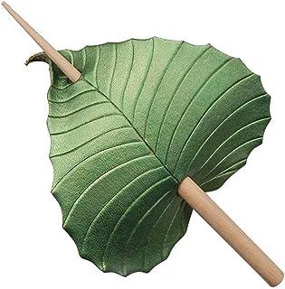 Tixiyu Retro Blauwe Vogel/Groen Blad Haar Pin Stick Slide met Stick, Niet-vervaagde Haar Sticks, Vintage Haaraccessoires P...