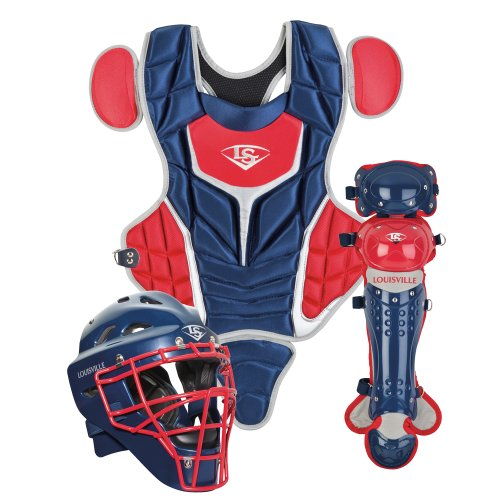 Louisville Slugger Youth PG Series 5 Catchers Set, Navy/Scarlet