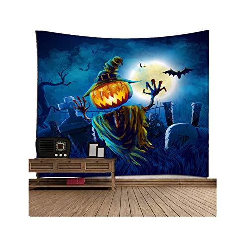 Sannysis Wandteppich Tapisserie Wandbehang Halloween Dekoration Fledermäuse Kürbis Skelett Tagesdecke Überwurf Decke Home Raum Wand Decor Strandtuch Picknickdecke (I, 150x130 cm)
