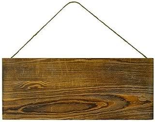 Lara's Crafts Barn Wood Rustic Plank Sign with Jute Hanger - 5.5