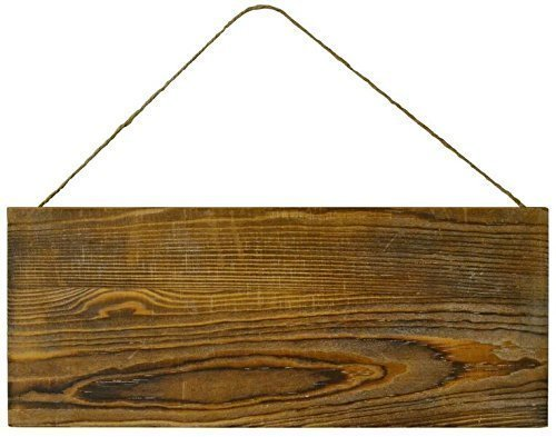 Lara's Crafts Barn Wood Rustic Plank Sign with Jute Hanger