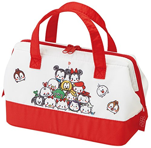 Skater Disney Tsum Tsum Pouch Type Cold Insulation Lunch Bag Bento Cooler Bag with Thermal Lining KGA1 from Japan