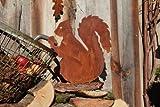Rostikal | Eichhörnchen in Edelrost | Herbstdeko aus Metall | 32 cm hoch