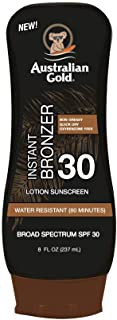 Australian Gold Sunscreen Lotion with Instant Bronzer SPF 30, 8 Ounce | Broad Spectrum | Water Resistant | Non-Greasy | Oxybenzone Free | Cruelty Free