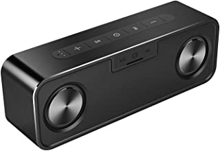 Bluetooth Speakers, MIFA A20 Portable True Wireless Stereo Soundbox, Suppports Pairing Two, Super Enhanced Bass, 30W, 4000 mAh, Built-in Mic, Micro SD Card Slot, Metallic Black