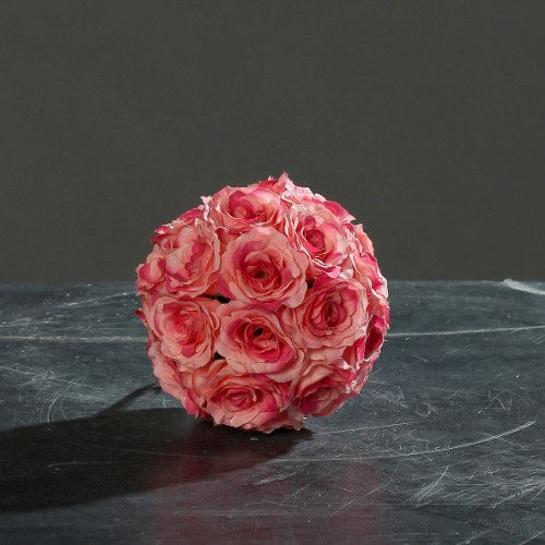 Rosenkugel pink Ø 12 cm Kunstblume von DPI