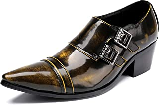 Rui Landed Oxford for Men Formal Shoes Slip On Style Genuine Leather Retro Color Delicacy Monk Strap