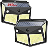 Luz Solar Exterior 260 LED, Salandens Luces LED Solares Exteriores con...