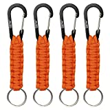 EOTW Keyrings Gifts for Women, Fashion Key Chain with Multi-Colour, Key Ring for Best Friends (Orange(Pack of 4))