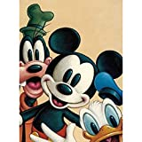 DIY 5D Diamond Painting Kits for Adults and Kids, 16'X12' Disney Mickey Mouse Family Full Drill Crystal Rhinestone Embroidery Arts Craft Canvas Cross Stitch for Home Wall Decor