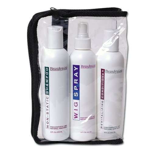 Brandywine Synthetic Wig Maintenance Kit, Non-Static Wig Shampoo, Revitalizing Wig Conditioner and Non-aerosol Wig Spray, 8 Ounce each