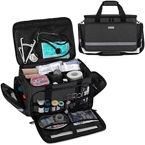 CURMIO Nurse Bag Medical Bag Clinical Bag with inner Dividers and No slip Bottom for Home Visits product image