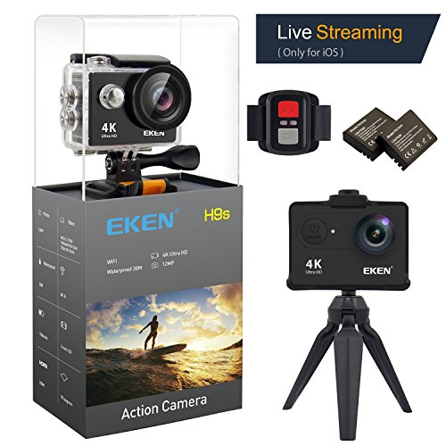 EKEN H9s 4K Cámara de Acción Cámara Deportiva a Prueba de Agua Full HD Wifi con Video 4K30/ 1080p60/ 720p120fps...