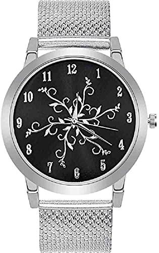 Mano Reloj Reloj de pulsera para mujer Moda Flor Reloj de alumnio Banda de alumnio Acero Inoxidable Analógico Reloj de pulsera de lujo Relojes de oro Relojes de plata Relogio Relojes Decorativos Casua