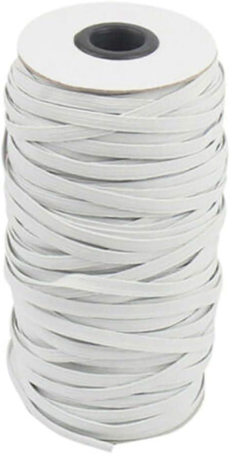 XIMIXI 3/5/7/9mm Width Flat Braided Elastic Band Cord Knit Stret