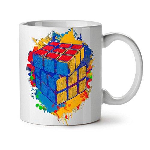 Wellcoda Cube Jeu Mug en céramique, Couleur Torsion Tasse - Grande, poignée Facile à Prendre, Impression Recto Verso, idéale pour Les buveurs de café et de thé by