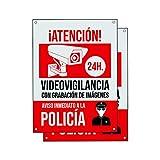 Cartel videovigilancia | Placa alarma conectada | Carteles zona...