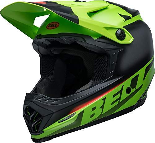 BELL Full-9 Fusion MIPS Casco Integral MTB, Unisex, Verde Mate/Negro/Crim, Pequeña/53-55 cm