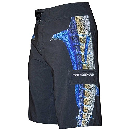 Tormenter Men's Side to 8 Way Stretch Boardshorts, Marlin 36