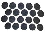 20PCS PHALANX BLACK HOOK SYSTEM FOR INSIDE OF BALLISTIC HELMETS ADHESIVE BACKING SIZE 1 7/8'