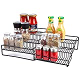Mocreo 3 Tier Spice Rack Organizer for Cabinet Expandable Pantry Spice Organizer for Kitchen...