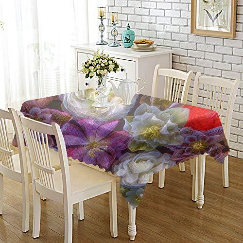 XGguo Manteles de Mesa para Fiesta Antimanchas Resistente a Líquidos de Estilo Moderno para Mesa Tejido Estampado Engrosado
