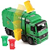 Liberty Imports 14' Oversized Friction Powered Recycling Garbage Truck Toy for Kids with Side Loading and Back Dump