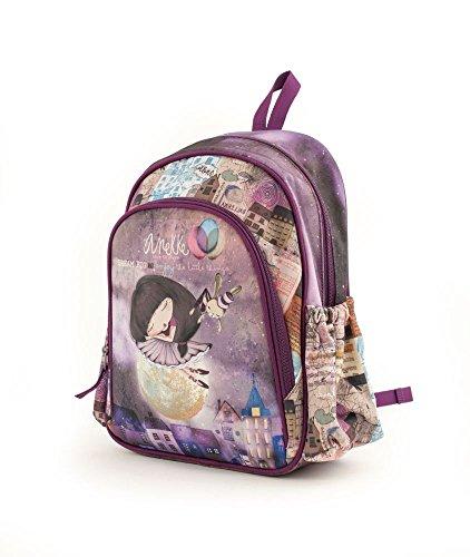 Anekke Schulrucksack/Backpack mit 2 Reißverschlussfächern Rucksack 18AN-903-BA, 35 cm, 12 L, Balerina