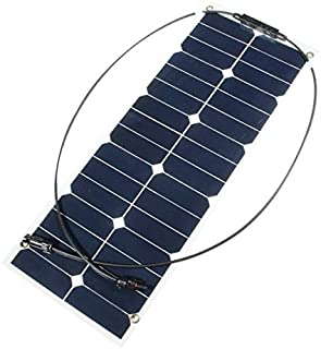 NeitKaarsh India 30W 12V Mono Semi Flexible Solar Panel for RV Boat Smart Car Battery Charger Single Item.