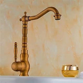Grifos de lavabo Accesorios de baño Mezclador Retro Del Grifo Grifo De Cobre Antiguo/Audiencia De Grifo De Lavabo De Agua Caliente Y Fría/Retro/Grifos De Baño
