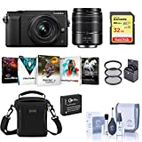 Panasonic Lumix DMC-GX85 Mirrorless Camera, Black, with 12-32mm and 45-150mm Lens Bundle with Bag, 32GB SD Card, Filter Kit, Extra Battery and Accessories