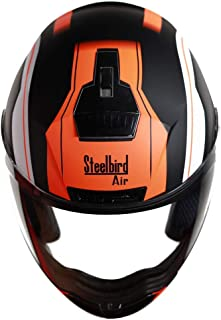 Steelbird SBA-1 Metal/Matt Black/Fluo Orange/Plain Visor 600mm