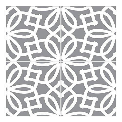 Wandkings Bodenfliesenaufkleber 4er Set - Wähle ein Muster & Größe -