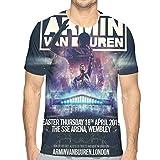 Photo de iqingzhongbai Armin Van Buuren T-Shirt pour Hommes imprimé 3D T-Shirt à Manches Courtes Blanc