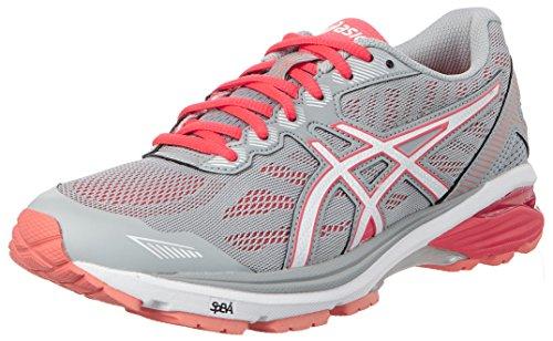 Asics Gt-1000 5, Zapatillas de Deporte para Mujer, Gris (Midgrey/white/diva Pink), 42.5 EU