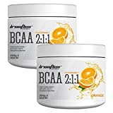 Ironflex BCAA 2:1:1 Pulver   200g je Dose (insg. 400g)   Geschmack: Orange   Workout Leucin...