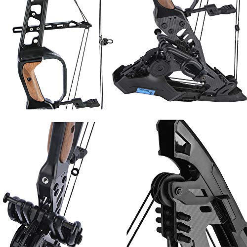 SHARROW Archery Compound Bow Kit Steel Ball Dual-purpose Pulley Compound Bow, Bow and Arrow Set for Adults Outdoor Bow Hunting (Type 2)