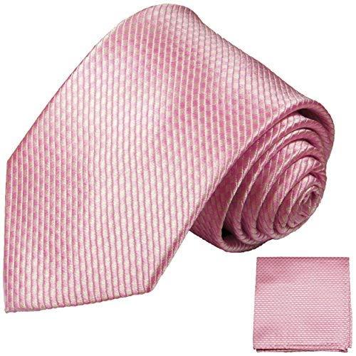 Cravate homme rose uni ensemble de cravate 2 Pièces (longueur 165cm)
