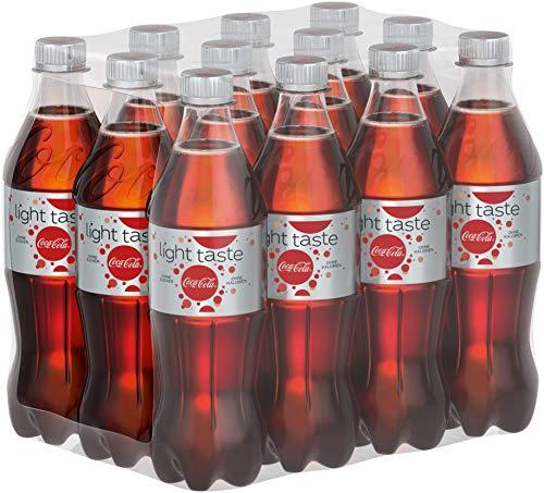Coca-Cola Light / Erfrischendes Softgetränk in praktischen Flaschen - Coca-Cola Geschmack ohne Kalorien / 12 x 500 ml Einweg Flasche