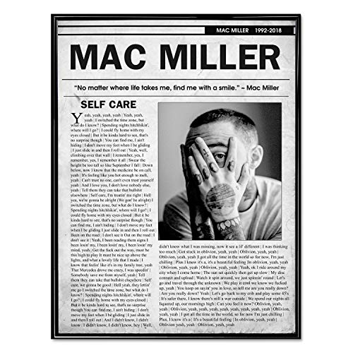 Mac Miller Poster Self Care Print Wall Art Decor Premium Print (11' x 14')